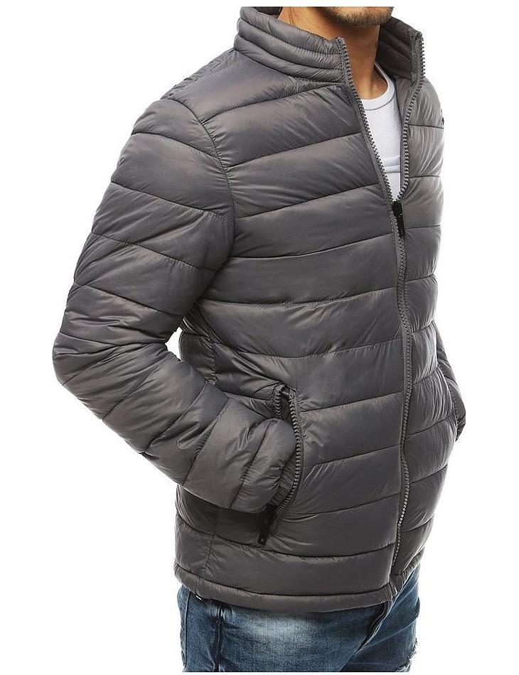 šedá pánska prešívaná bunda vel. 2XL