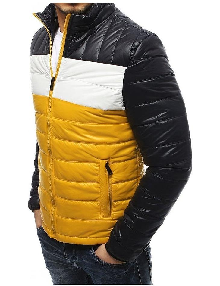 Pánska žlto-čierna bunda vel. M