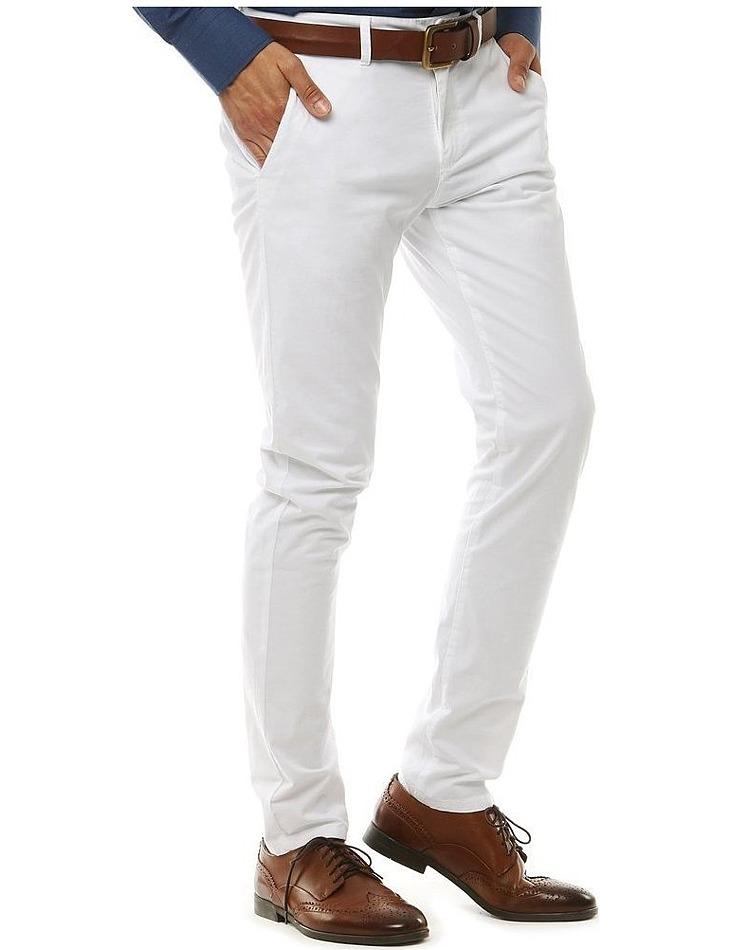 Biele pánske nohavice vel. 32