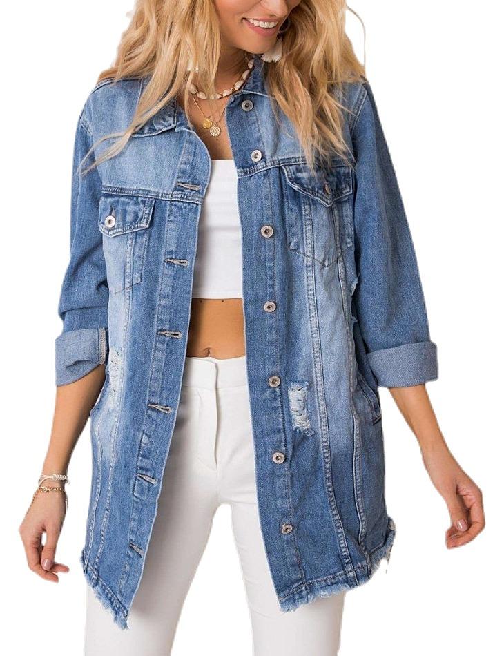 Dámska modrá džínsová bunda vel. M/L