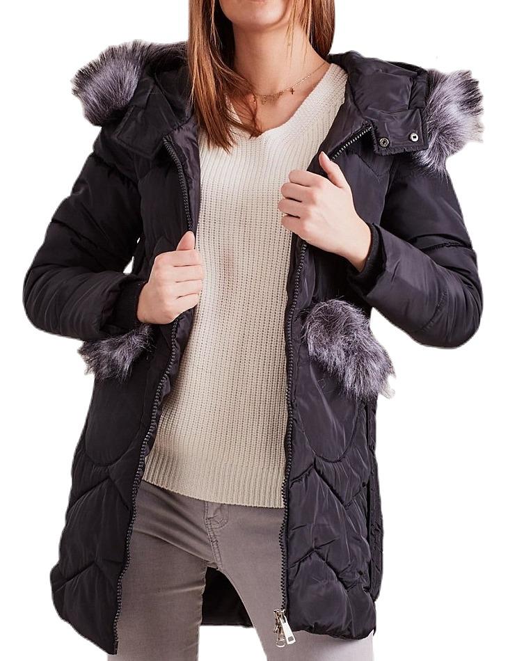Dámska zimná čierna bunda vel. L