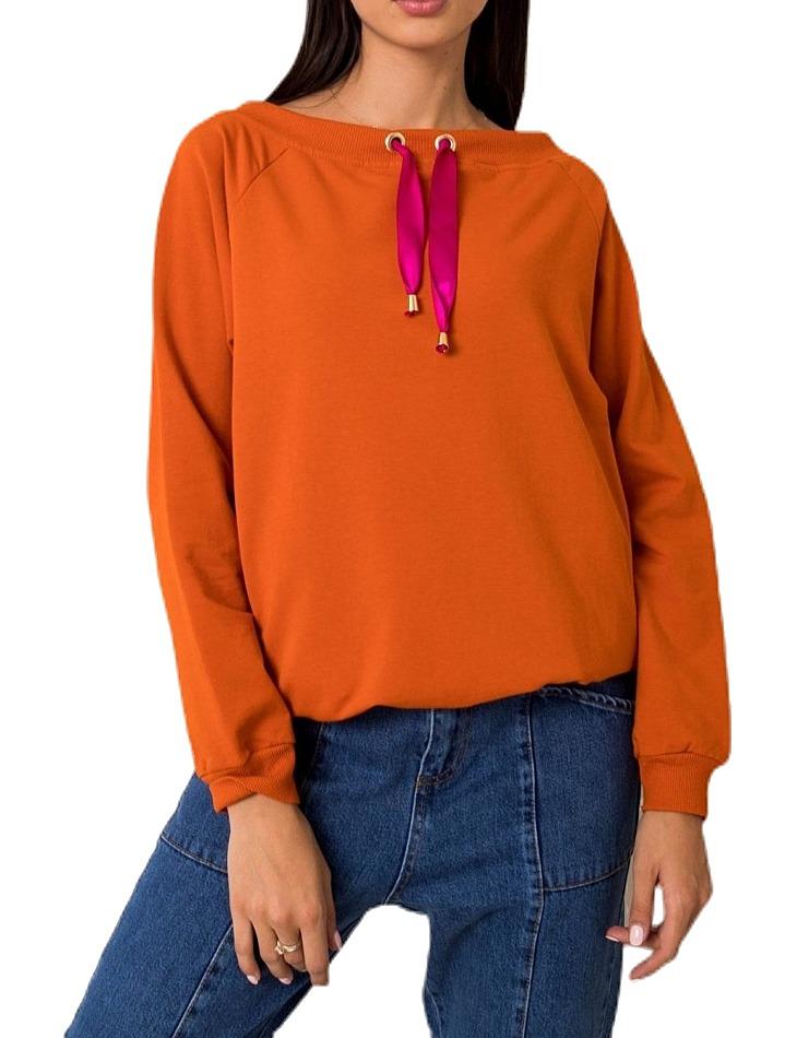 Tmavo oranžová dámska mikina vel. L/XL