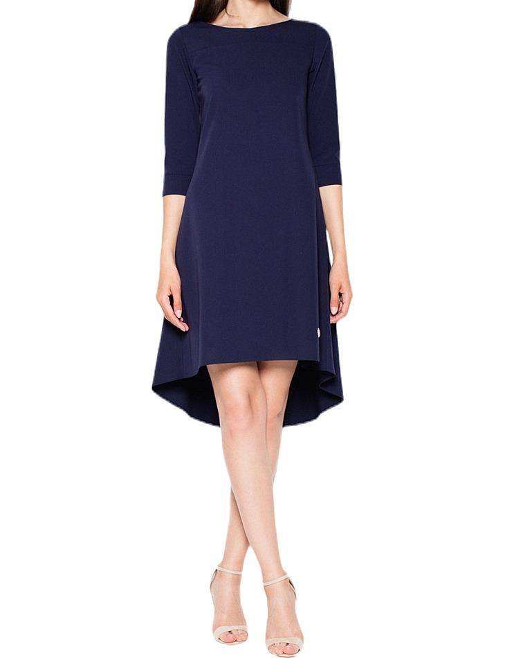 Dámske šaty s asymetrickou sukňou vel. L