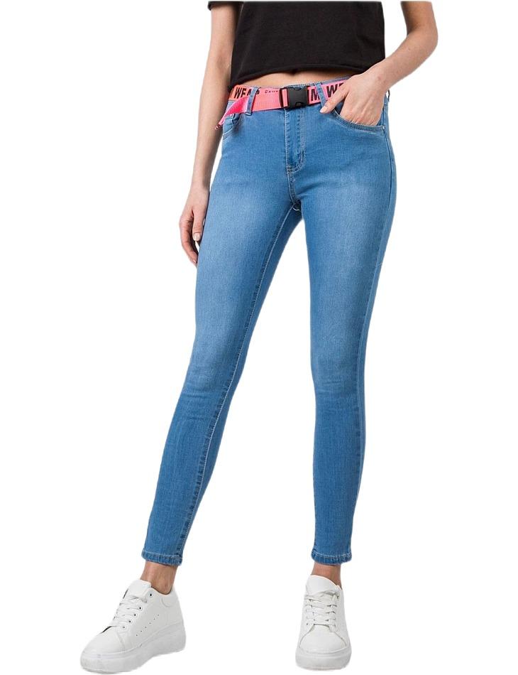 Dámske modré jednoduché džínsy vel. 36