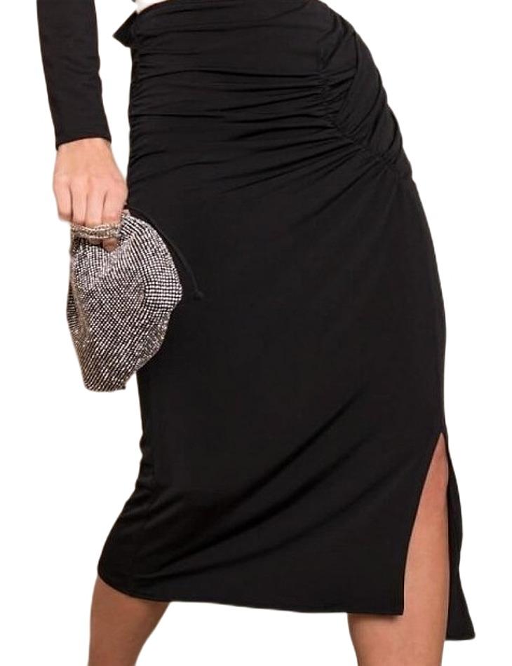 čierna dámska dlhá sukňa s rázporkom vel. M