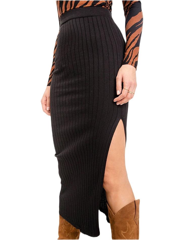 čierna dámska dlhá sukňa vel. M