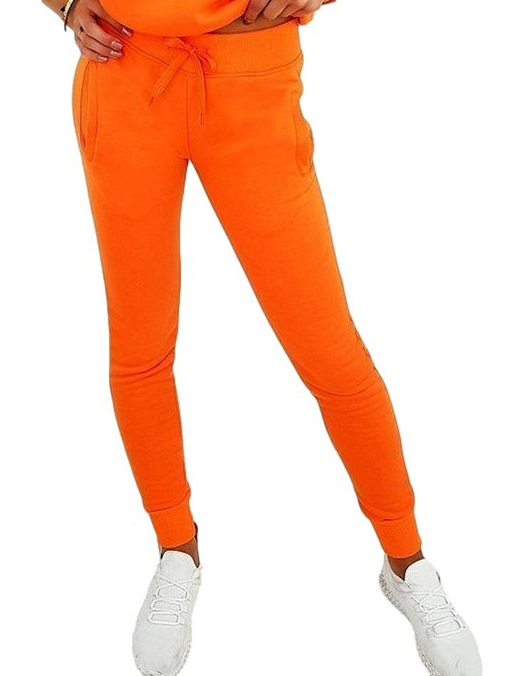 Oranžová dámska tepláková súprava vel. M