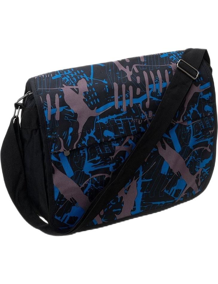 Loren veĺká crossbody taška - modro-šedý vzor vel. univerzální
