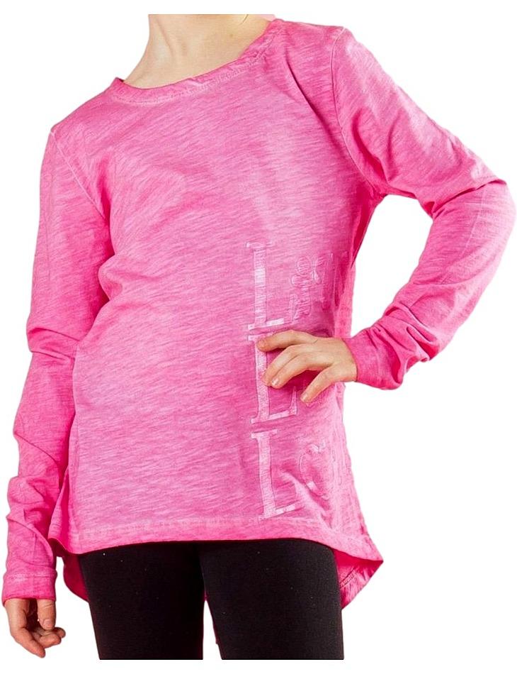 Ružové dievčenské tričko vel. 128