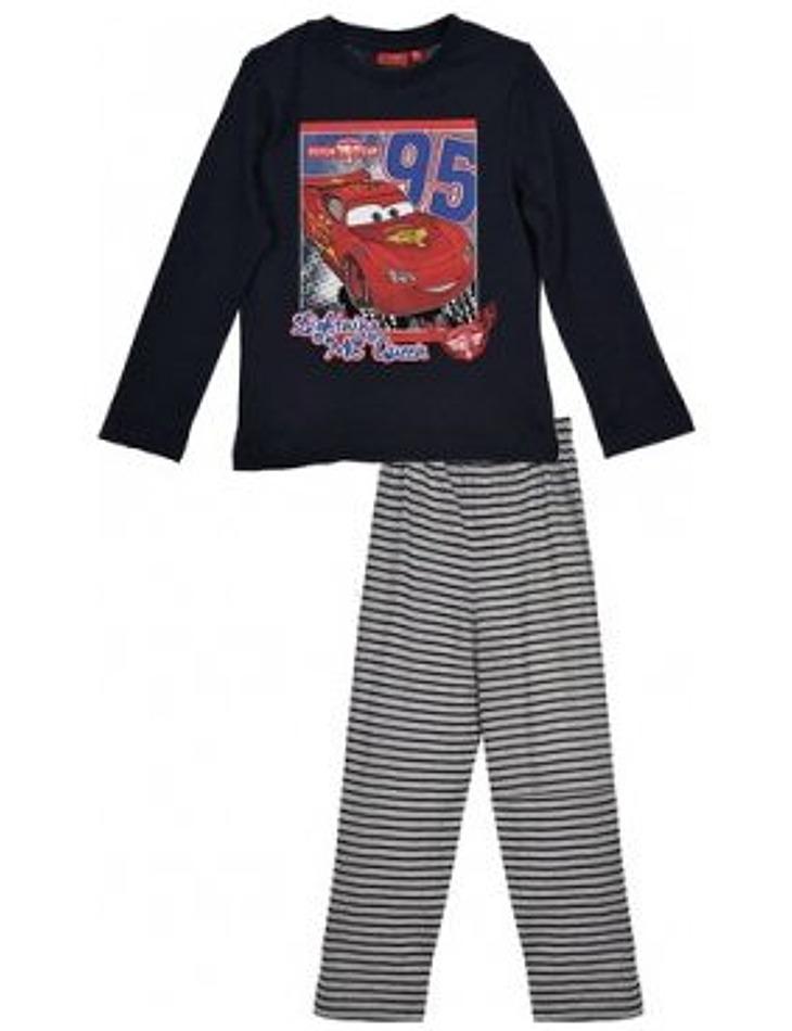 Cars - chlapčenské čierne pyžamo s dlhým rukávom vel. 114