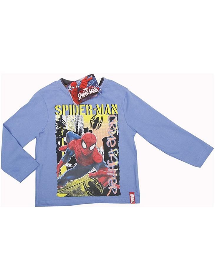 Spiderman svetlo modré chlapčenské tričko s dlhým rukávom vel. 98
