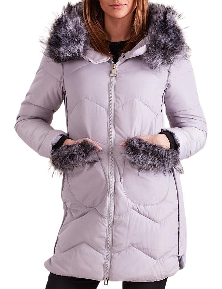 Dámska zimná šedá bunda vel. M
