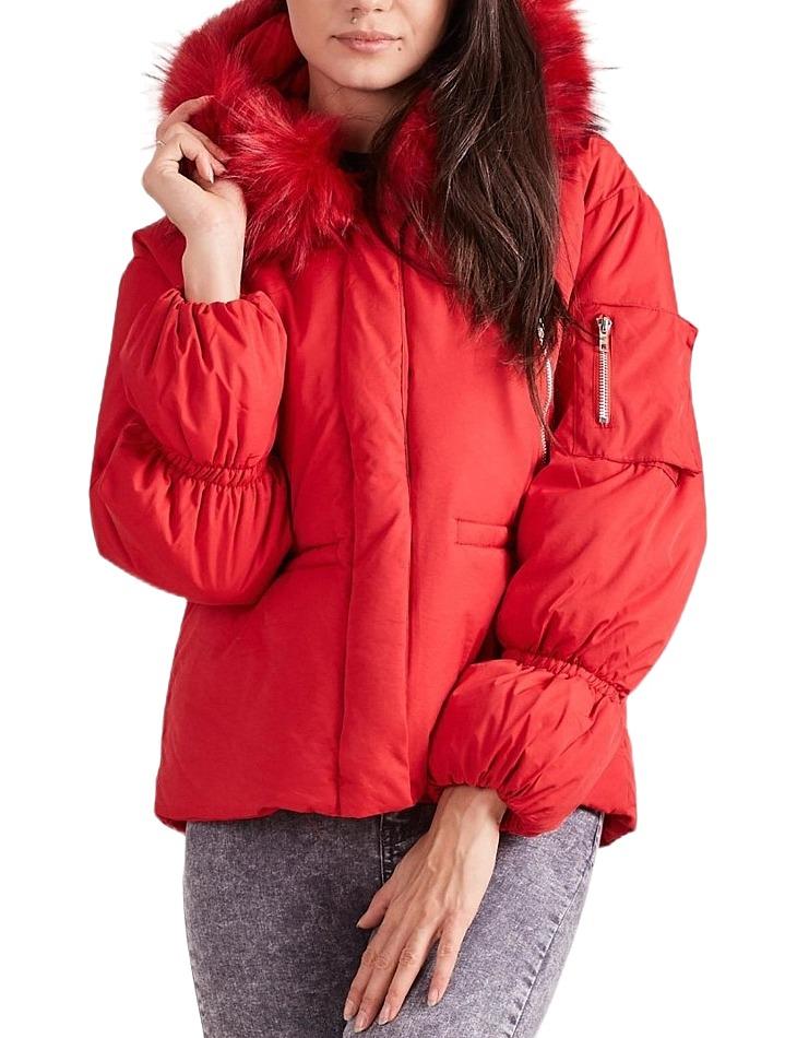 Dámska červená zimná bunda vel. XL
