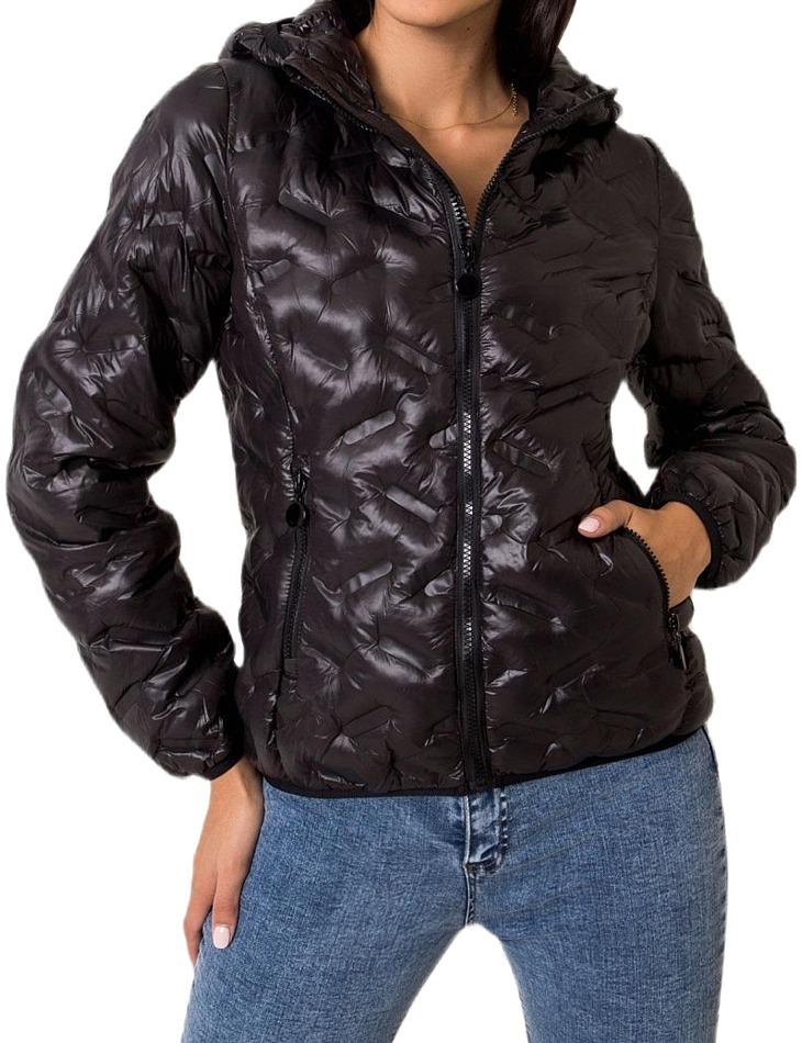 Dámska čierna bunda vel. XL