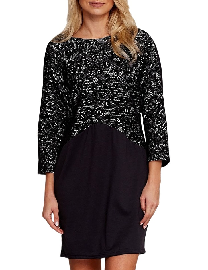 čierne šaty s čipkou vel. 38