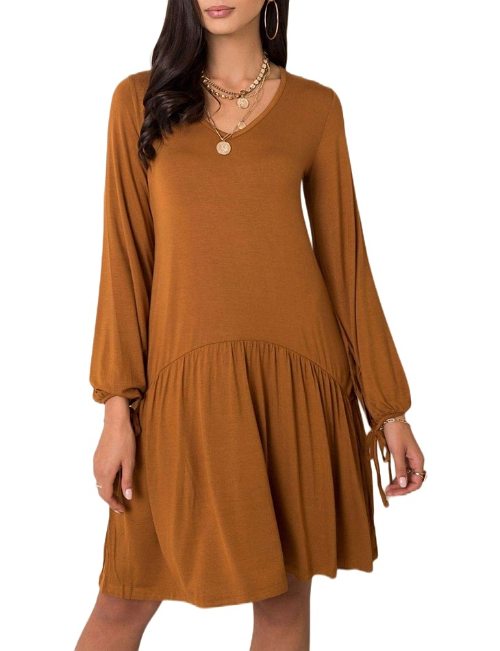 Hnedé dámske šaty vel. L
