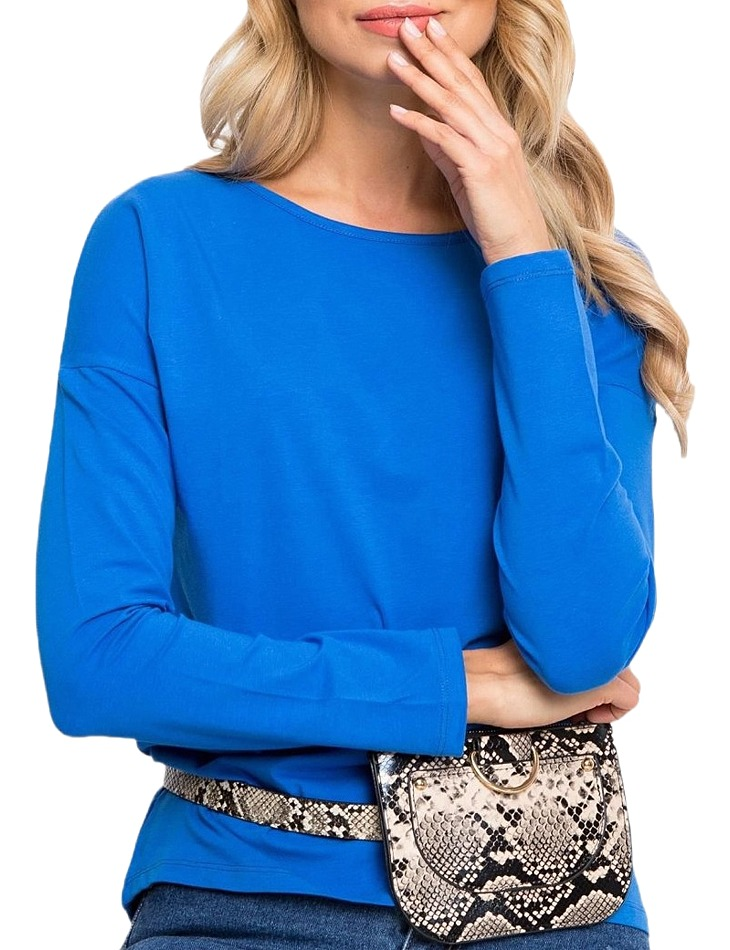 Dámske modré tričko s dlhým rukávom vel. S