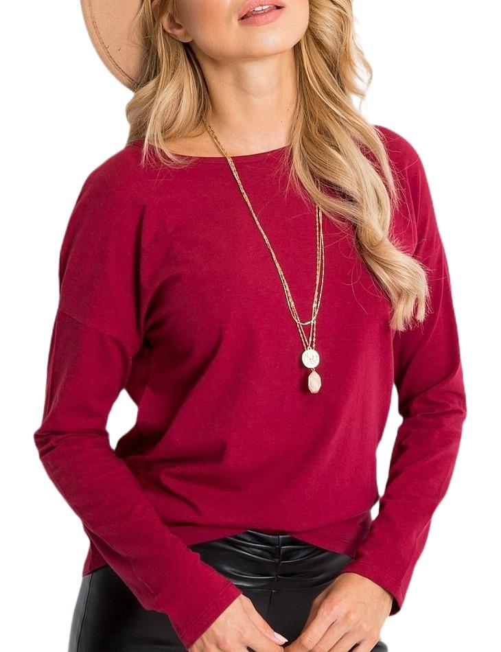 Dámske červené tričko s dlhým rukávom vel. M