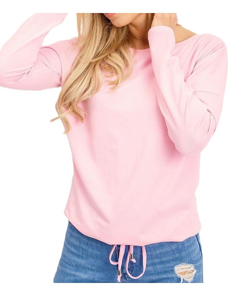 Dámske ružové tričko na zaviazanie v páse vel. M