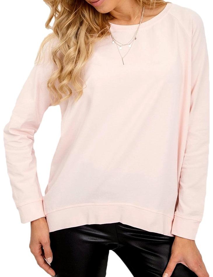 Dámske ružové tričko s dlhým rukávom vel. S