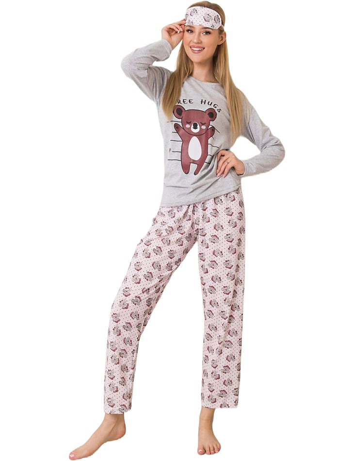 Dámske dlhé sivé pyžamo vel. M