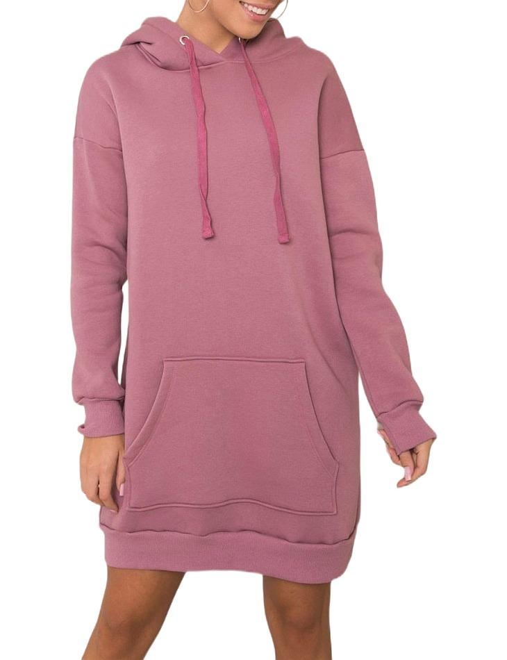 Ružové mikinové šaty vel. M