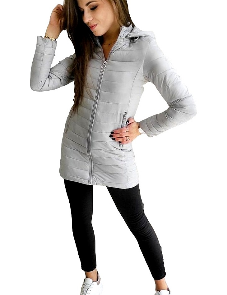 šedá dámska prešívaná bunda vel. 2XL