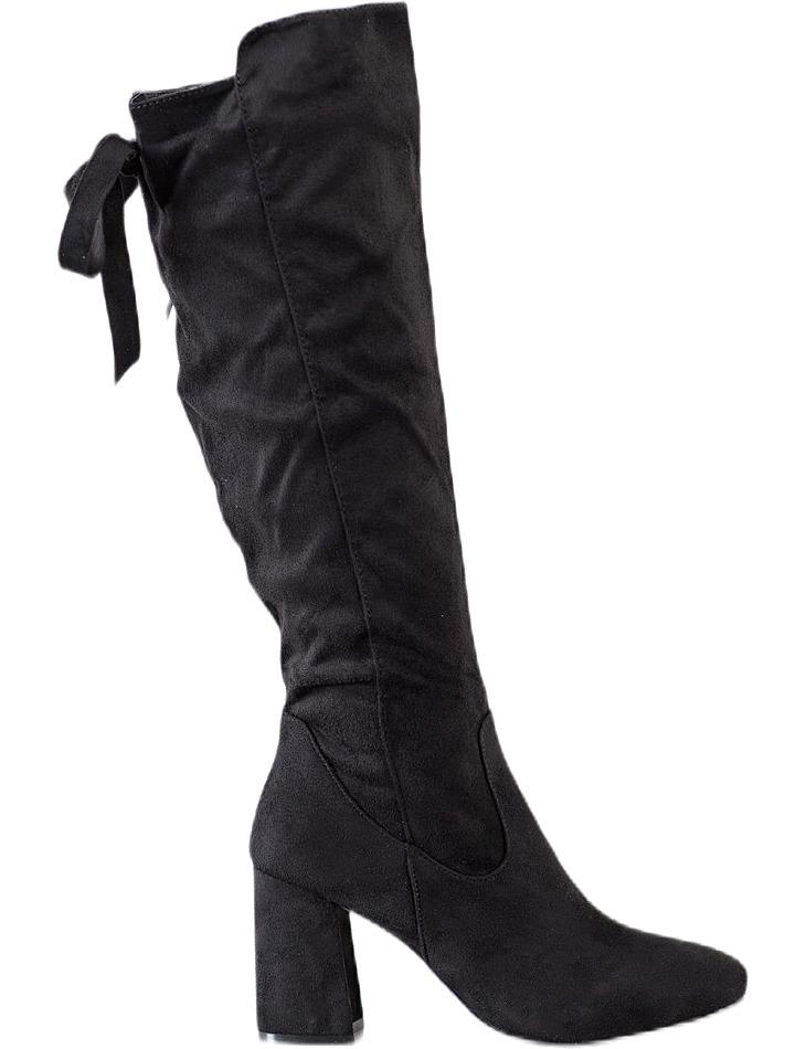 čierne štýlové čižmy na stĺpiku vel. 36