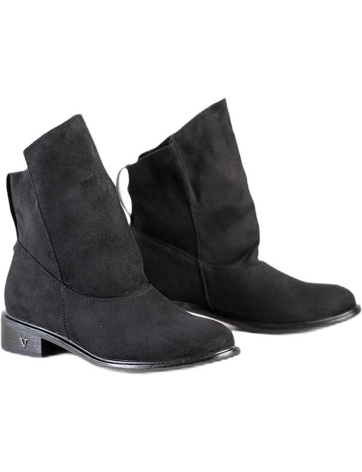 čierne dámske semišové topánky vel. 36