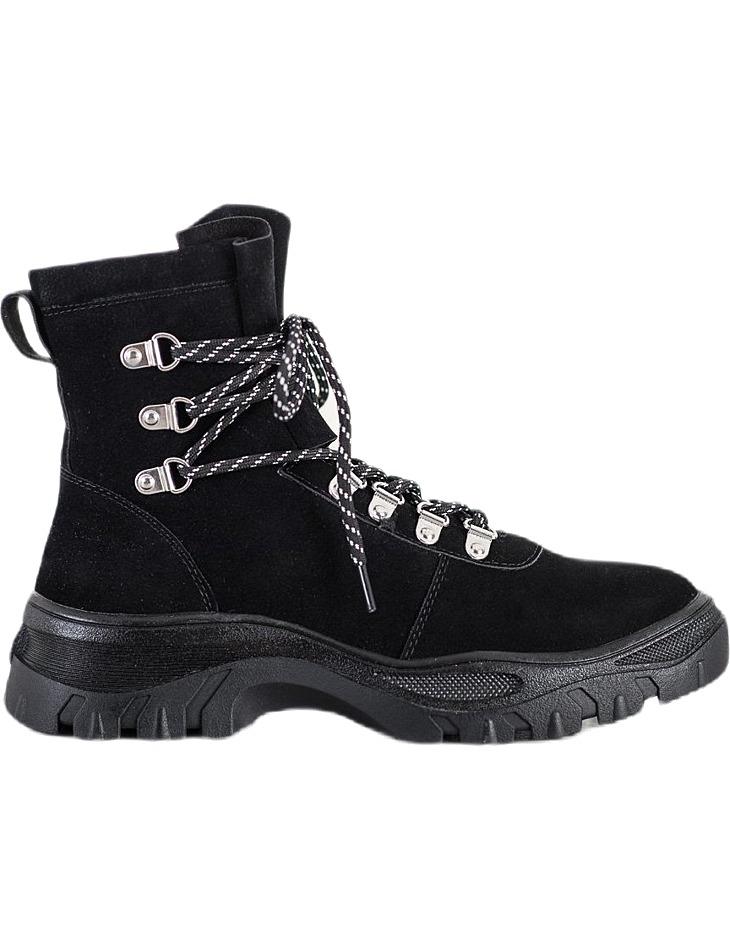 čierne dámske členkové topánky na šnurovanie vel. 37