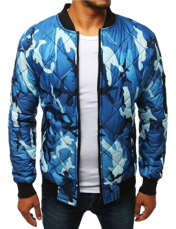Pánska svetlo modrá prešívaná bunda vel. M