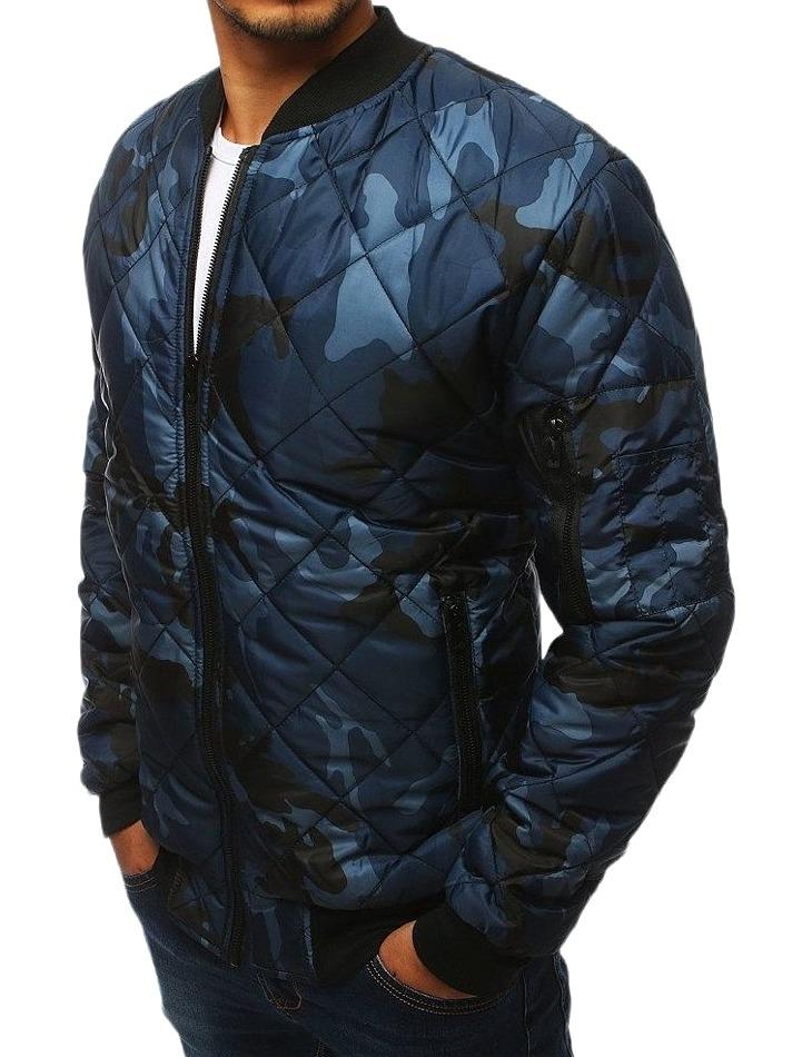 Pánska tmavo modrá prešívaná bunda vel. M