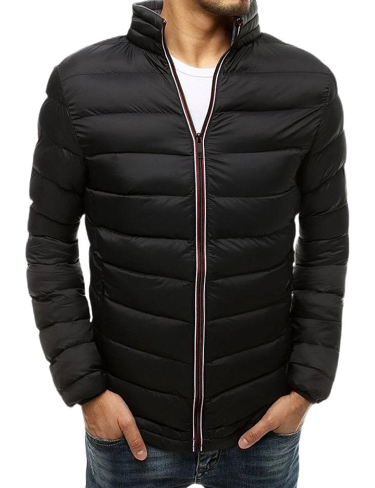 Pánska čierna prešívaná bunda vel. XL