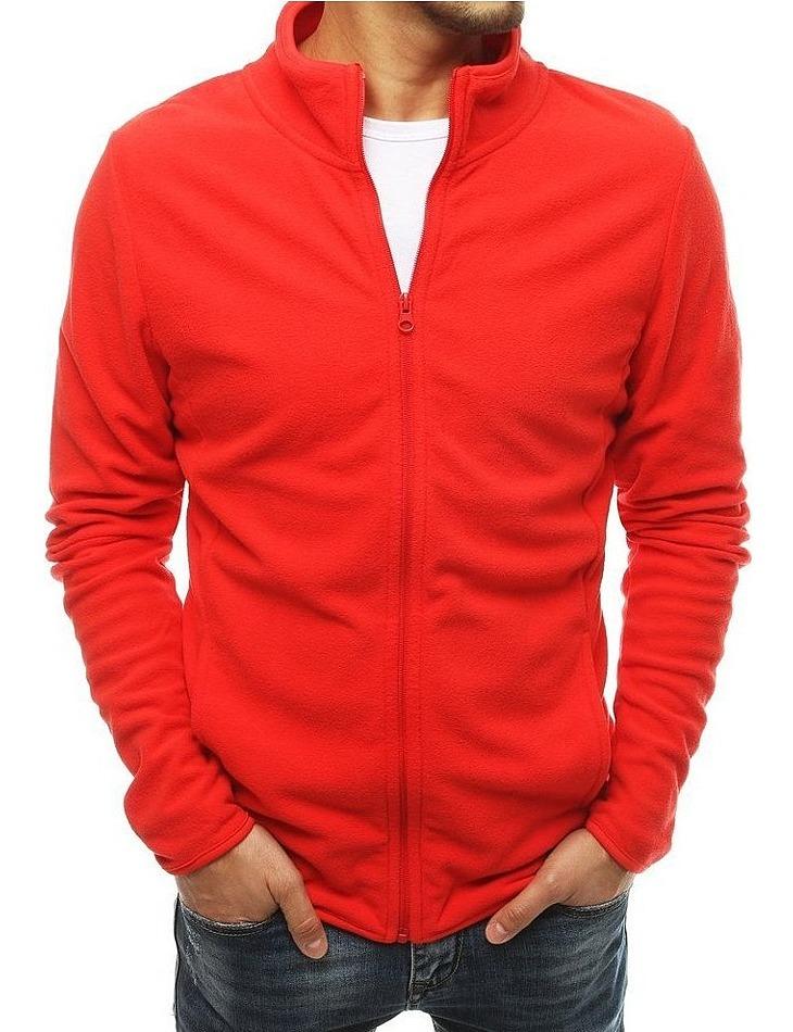 červená mikina na zips vel. XL
