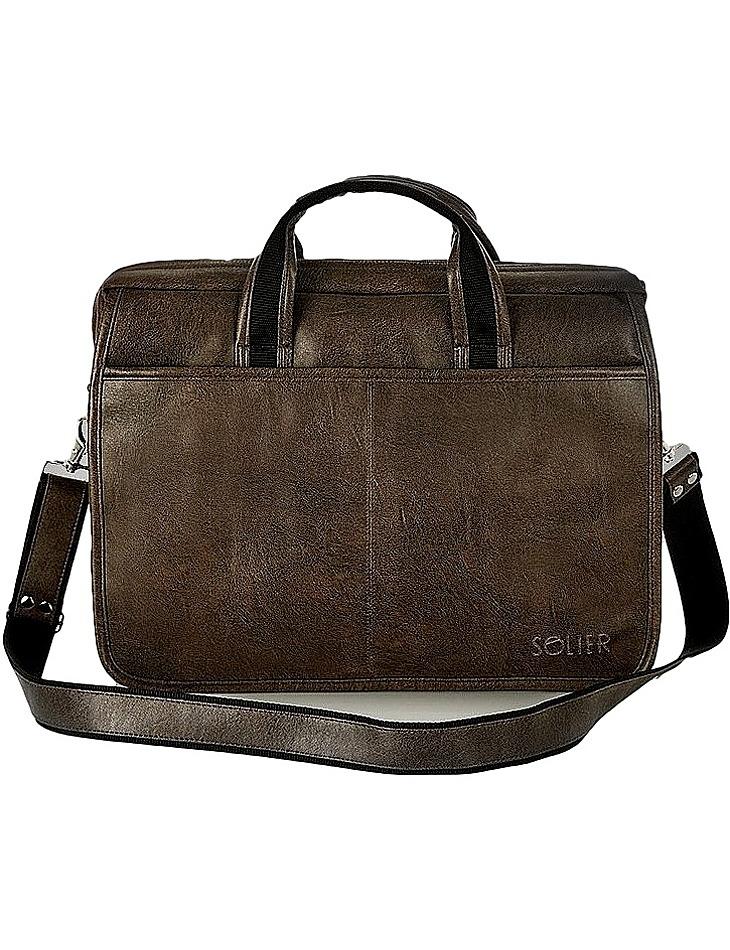 Tmavohnedá pánska taška na rameno s13 dark brown vel. univerzální