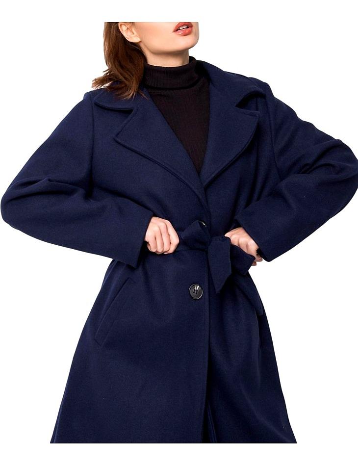 Tmavomodrý dámsky kabát vel. univerzální