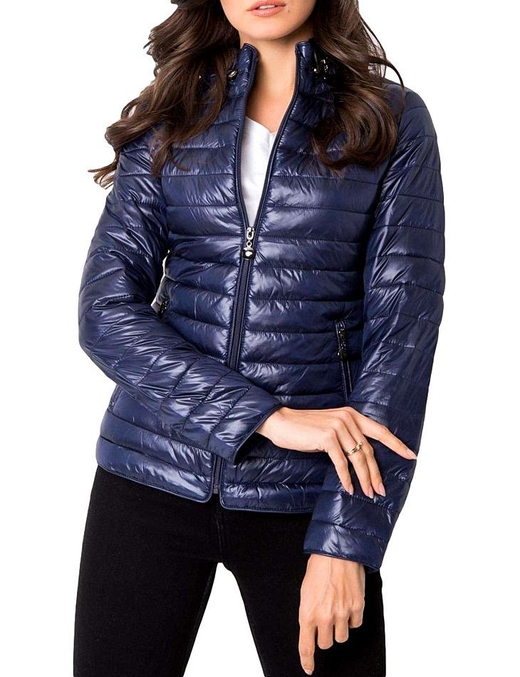 Modrá prešívaná bunda vel. M