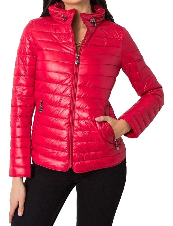 červená dámska prešívaná bunda vel. XL