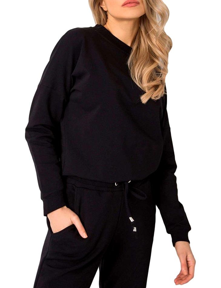 čierna dámska mikina s holým chrbtom vel. XL