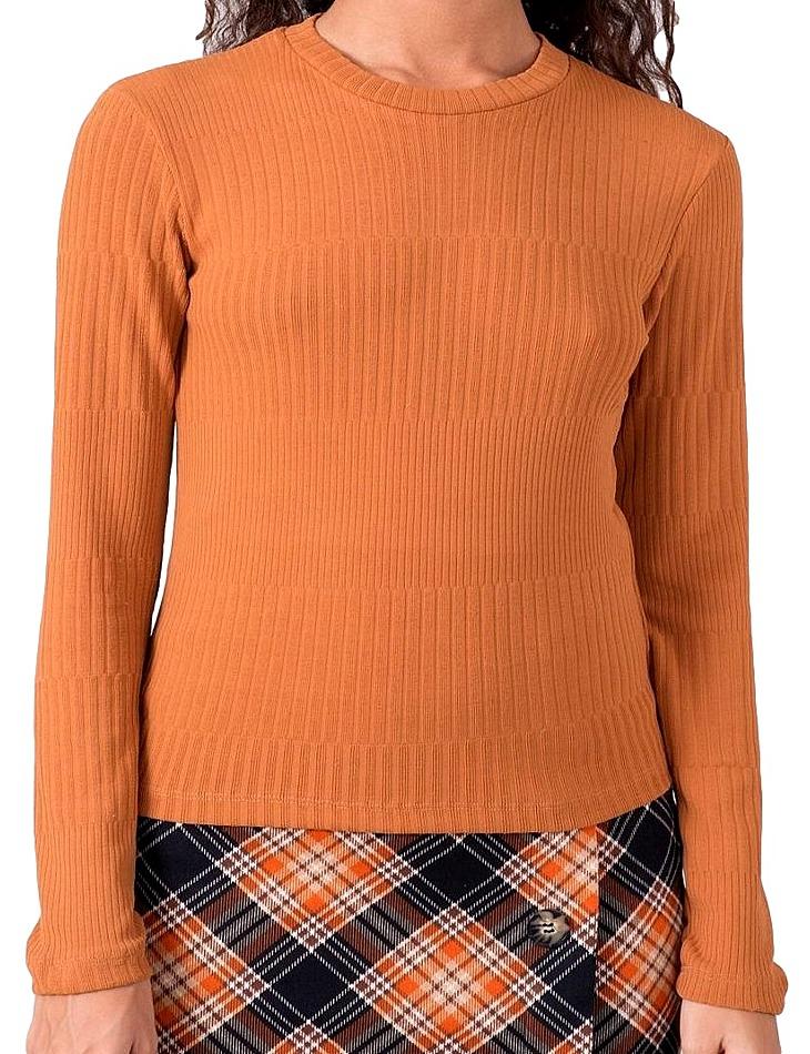 Oranžové dámske tričko s dlhým rukávom vel. S