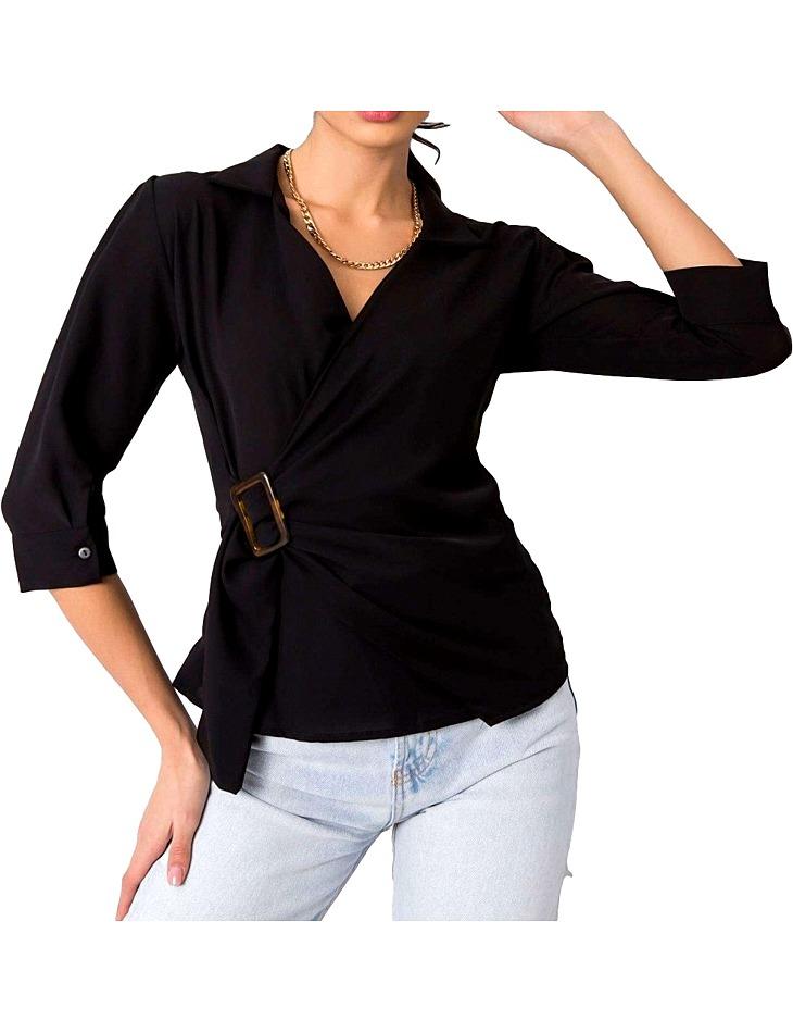 čierna dámska blúzka na stiahnutie vel. XL