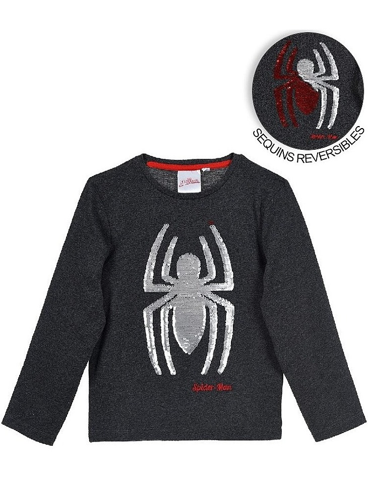 Spider-man - sivé chlapčenské tričko vel. 104