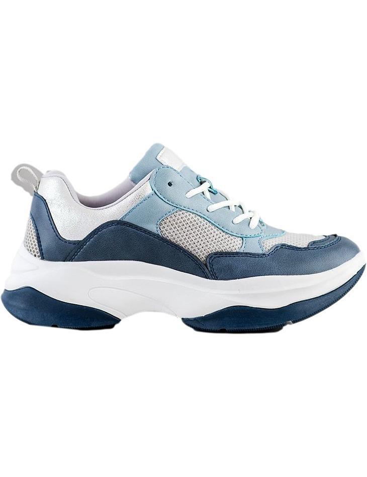 Modré dámske tenisky na platforme vel. 37