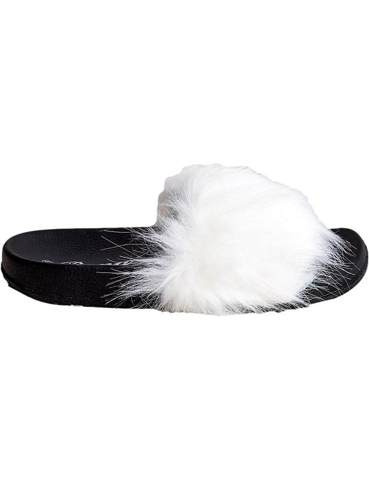 Biele štýlové papuče vel. 39