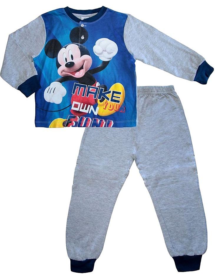 sivé chlapčenské pyžamo mickey mouse vel. 116