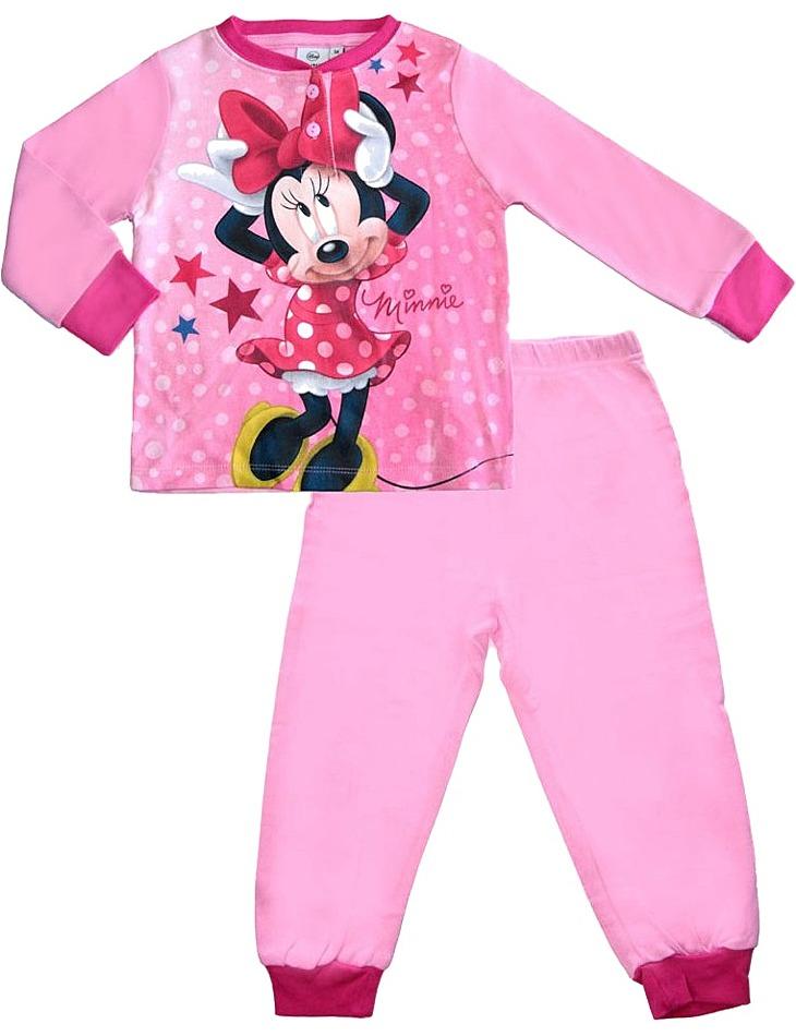 Dievčenské svetlo ružové minnie pyžamo vel. 128