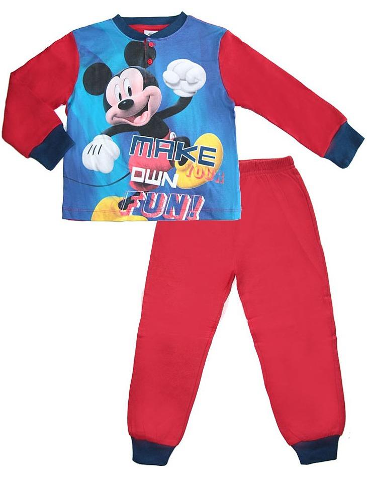 červené chlapčenské pyžamo mickey mouse vel. 116