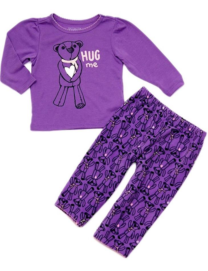 Dievčenské fialové pyžamo s medvedíkom vel. 104