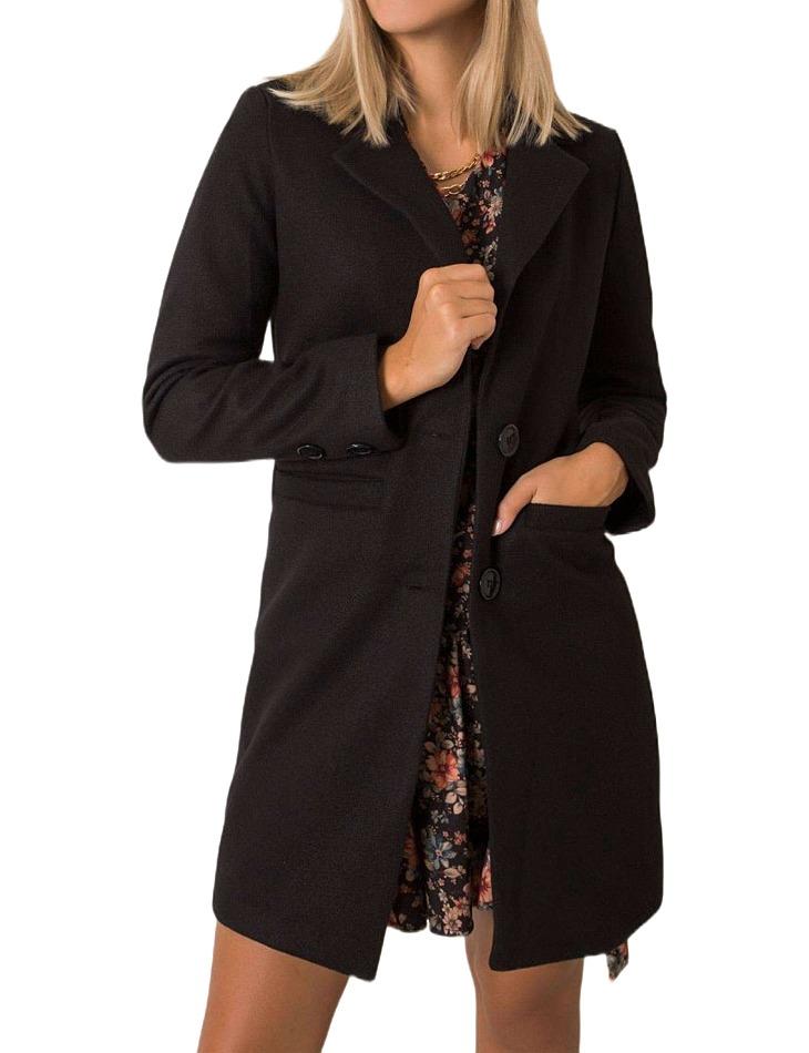 čierny dámsky kabát vel. L