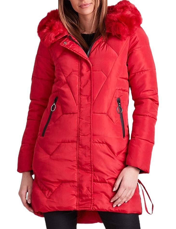 Dámska červená zimná bunda vel. M
